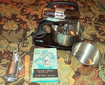 Vintage Camfield Power Mix Model 5012 R1 10 Speed Stand Mixer/Meat Grinder