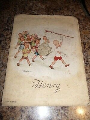 1930's 'HENRY' FULL ALBUM  ALL 50 LARGE CIGARETTE CARDS Kensitas Carl Anderson