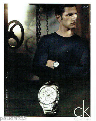 dab2f7a9889c6f PUBLICITE ADVERTISING 1016 2011 Calvin Klein collection montres homme