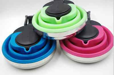 Collapsible Folding Kettle 1.5L Silicone Backpacking Camping Space Saving