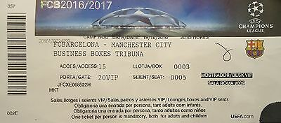 VIP TICKET Business UCL 2016/17 FC Barcelona vs Manchester City
