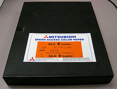 "100 Sheets Mitsubishi Speed Access RA-4 Color Paper 8"" x 10"" E Lustre Surface"