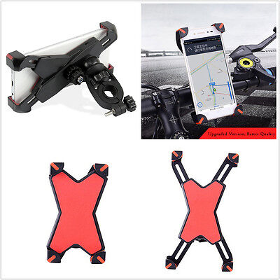 "Universal Motorcycle Bike Handlebar Mount Phone Holder For 3.5-7"" All Cell Phone"