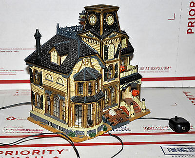 Lemax Spooky Town Greaves Manor House Haunted Mansion In Box Read Halloween