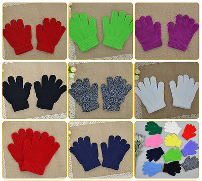 Fashion Children Gloves Winter Warm Knitted Mittens Kids Gloves For Boys Girls