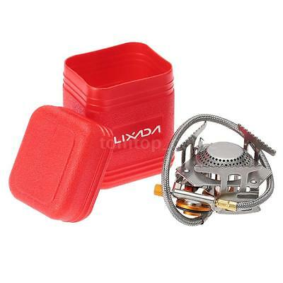 Camping Gas Stove Outdoor Cooking Portable Foldable Split Burner 3000W B8H8