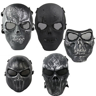 Safety Skull Skeleton Army Airsoft Tactical Paintball Full Face Protection Mask