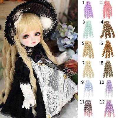 15x100cm DIY Curly Hair Wig Hairpiece for 1/3 1/4 1/6 Barbie BJD SD LUTS Dolls