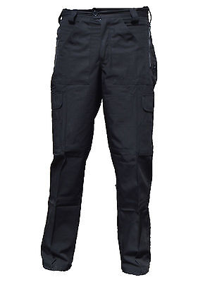 Ex Police Black Ripstop Tactical Cargo Trousers  R3U
