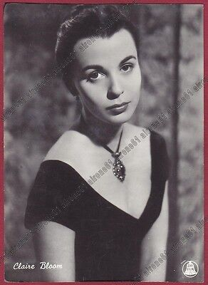 CLAIRE BLOOM 02 ATTRICE ACTRESS ACTRICE CINEMA MOVIE - UK Cartolina FOTOGRAFICA