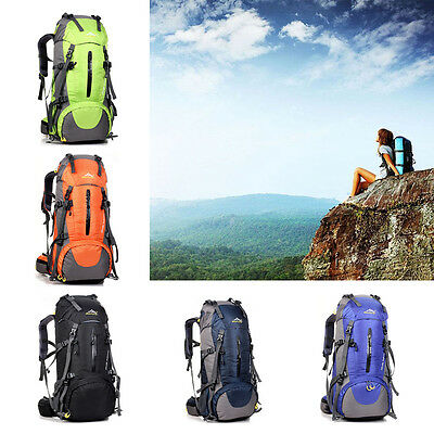 50L Outdoor Hiking Bag Camping Travel Sports Waterproof Mountaineering Backpack