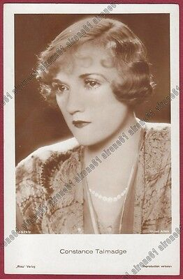 CONSTANCE TALMADGE 01b ATTRICE ACTRESS CINEMA MUTO MOVIE USA Cartolina FOTOGRAF.