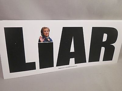 Wholesale Lot Of 20 Anti Hillary Clinton Liar For President Stickers Trump $ Usa