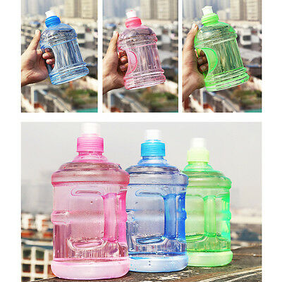 500ML/1000MLBig Large BPA Free PC Sport Gym Party Water Bottle Cap Kettle