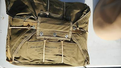 Parachute Seat Pack Cushon AN-6510-1 MFG Victory Parachute Co. dated Oct 10 1942