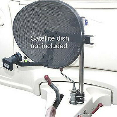 Portable Mast & Bracket Jockey Wheel Kit -Satellite Dish/Aerial Caravan Camping