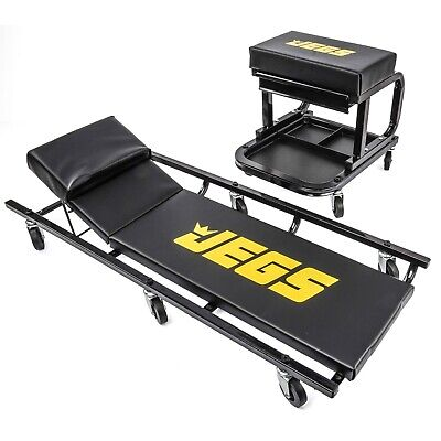 """39"""" Creeper and Mechanic Seat w/ Built in Tool Drawer Set Shop Garage JEGS 81150"""