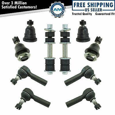 Upper Lower Ball Joints Inner Outer Tie Rod End Sway Bar Link Set for Xterra New