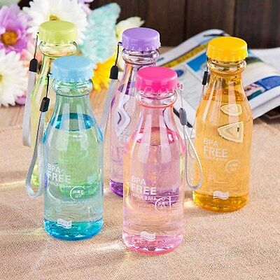 550ML Transparent Trendy Solid Plastic Water bottle Seal For Cycling Bike Travel