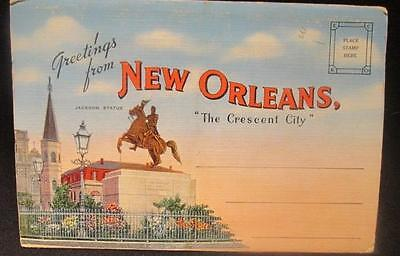 New Orleans Greetings from the Crescent City Vintage Kropp Postcard Folder
