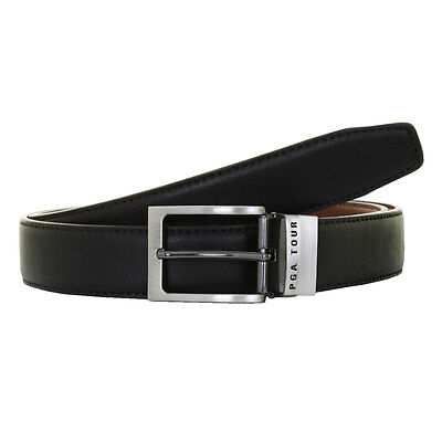 50% OFF RRP PGA Tour 2016 Mens Reversible Leather Golf Belt - Black/Brown