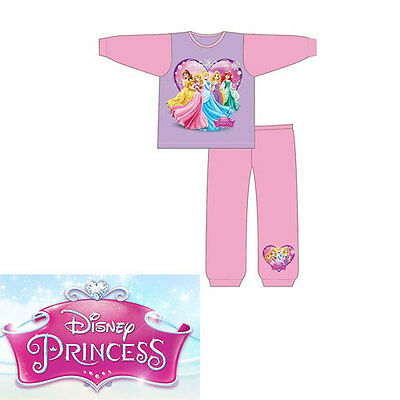 Disney Girls Princess Aurora Ariel Cinderella Be Long Sleeve Pyjamas Nightwear