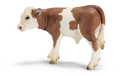 Schleich 13642 Simmental Calf Figurine - World Of Nature Farm Life - Cattle/ New