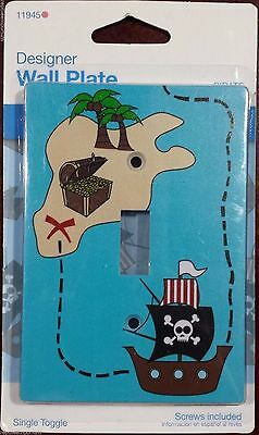 New Jasco Designer Wall Plate Pirate Themed Single Toggle Light Switch