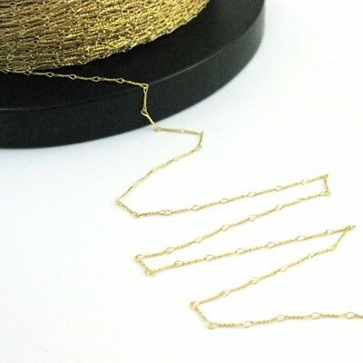 Gold plated Sterling Silver Chain-Unfinished,Bulk Chain Fancy Twisted Link-6.7mm