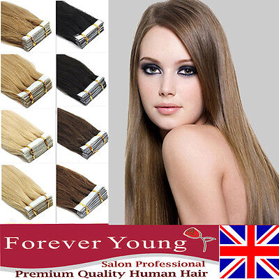 Forever Young Tape In Virgin Remy Human Hair Extension Weft  Hair Pieces UK