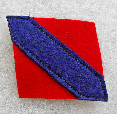 Wwii Canadian Formation Patch  For 1St Army2 Piece Construction Felt On Felt