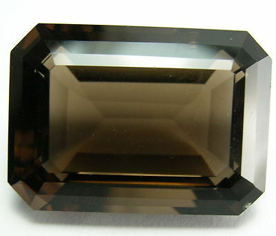 12x10mm OCTAGON-FACET NATURAL BRAZILIAN SMOKEY QUARTZ GEMSTONE