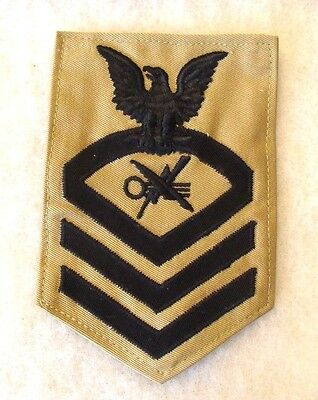 Short Lived 40/50's Usn Cpo Teleman {Crypto Intell.} Only 5 Or 6 Yrs Twill Chevs
