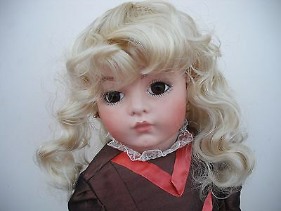 Dolls Wig In Blonde Soft Curls With Fringe 1013 Laura