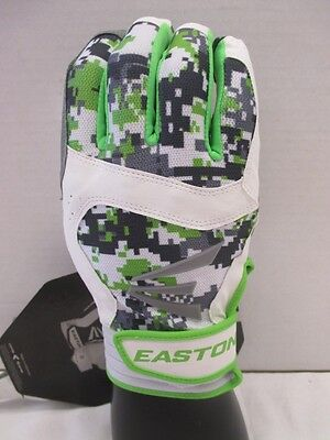 Pair Pack Easton Stealth Core Youth Digital Camo Batting Gloves Green White