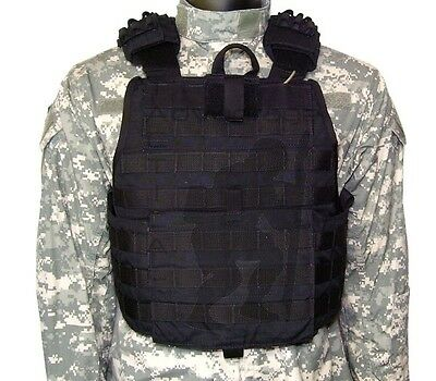 Eagle Industries MOLLE Quick Release Plate Carrier w/Cummerbund - LG/XL black