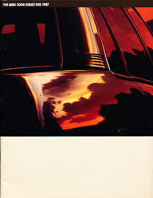 1987 Audi 5000 38-page BIG Original Sales Brochure Book Quattro