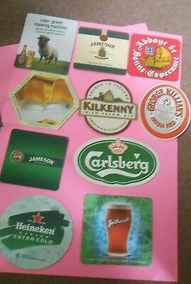 Lot of 10 Different Coasters from Overseas Breweries Beer Brewery