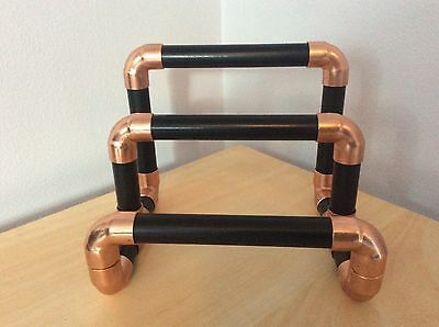 Steampunk Letter Rack made from Copper Pipe