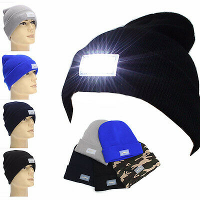Head Lamp 5 LED Head Light Fishing Camping Hunting Hiking Hat Hunt Cap Beanie