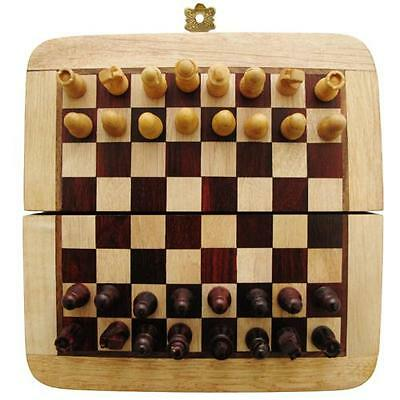 "5"" Wooden Magnetic Hand Made Chess Board Set"