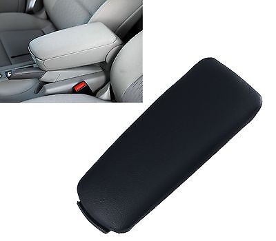 Black Leather Car Center Console Armrest Cover Lid Fit For Audi A4 B7 2004-2007