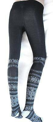 HIGH USE Claire campbell collant cotone cachemire stockings leggings neri M NEW