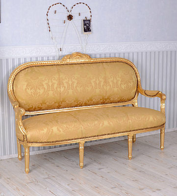 SALON SOFA ROCOCO Bench MADAME POMPADOUR Baroque furniture