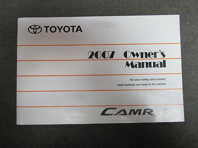 2007 Toyota Camry Owners Owner's Manual Book English Usa Canada  Mr Remotes Inc