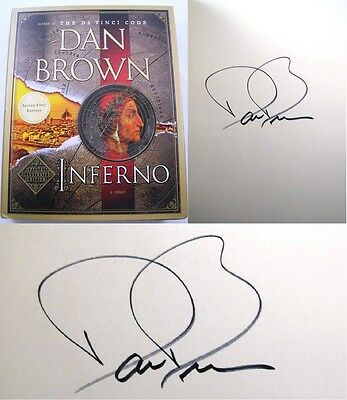 Inferno Dan Brown SIGNED Special Illustrated FIRST EDITION Tom Hanks Movie Book!