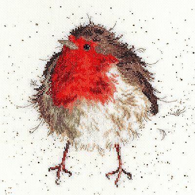 Bothy Threads Jolly Robin Counted Cross Stitch Kit - New Xhd5