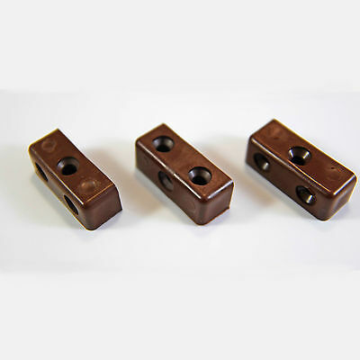 50 X Modesty Mod Blocks Brown Furniture Kitchen Cupboard Fixing Joint Connector