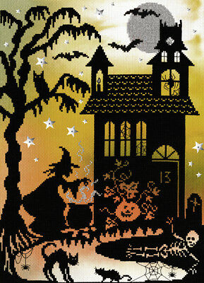 Bothy Threads Pumpkin House Counted Cross Stitch Kit - New Xe4