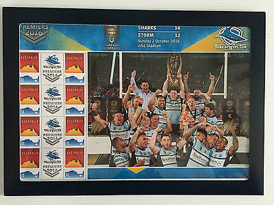 Brand New Mint Condition NRL Grand Final Sharks 2016 Souvenir Stamp Sheet SSS